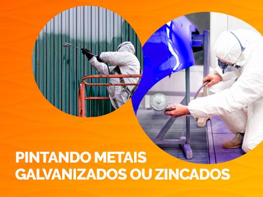 Pintando metais galvanizados ou zincados